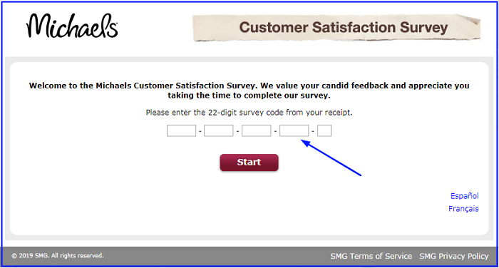 Michaels customer survey form