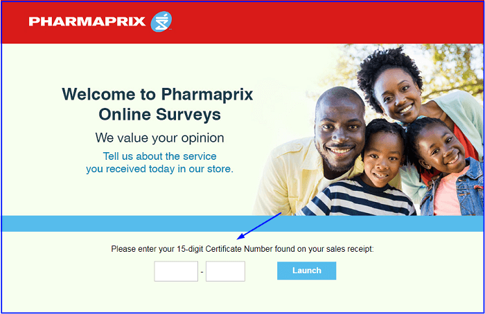 Pharmaprix Survey form