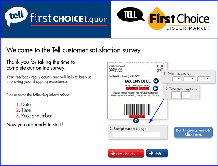 First Choice Customer Satisfaction Survey form