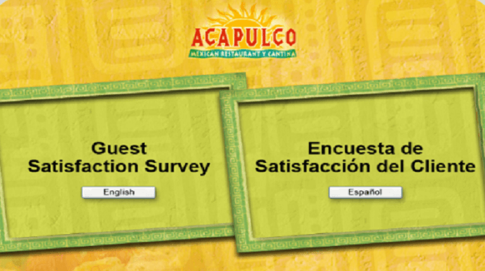 Acapulco Guest Satisfaction Survey form