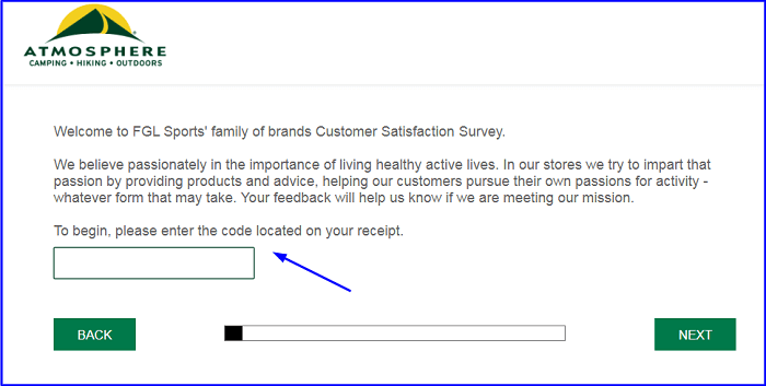 Atmosphere Customer Survey form
