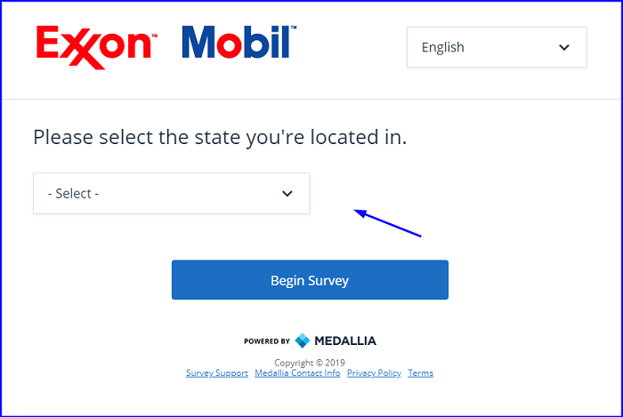 ExxonMobil Customer Visit Survey form