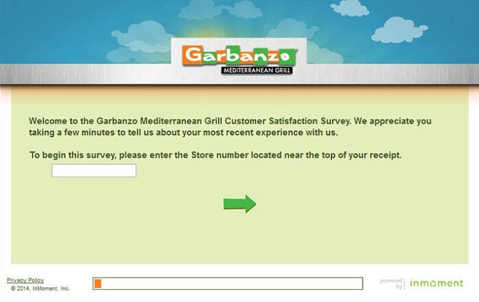 Garbanzo Mediterranean Grill Customer Satisfaction Survey form