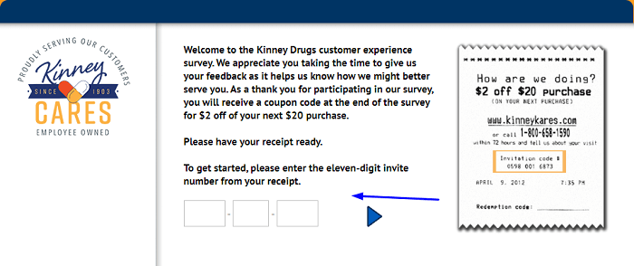 Kinney Drugs Customer Experience Survey form