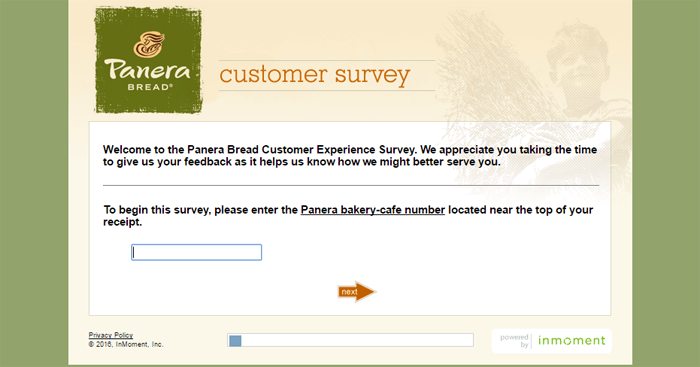 Panera Bread Guest Feedback Survey form