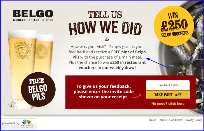 Belgo Customer Feedback Survey form