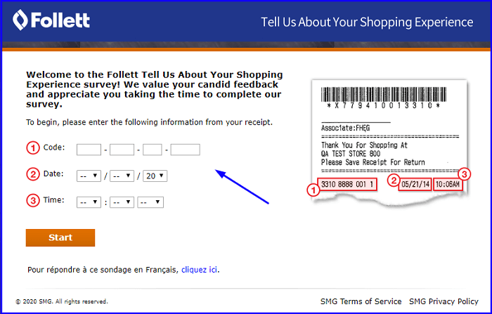 Follett Shopping Experience Survey form
