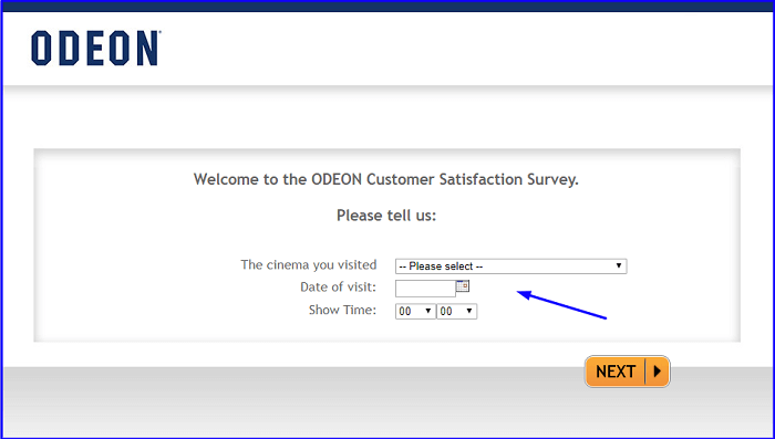 ODEON Customer Satisfaction Survey form