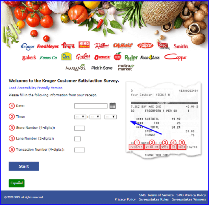 Pick'n Save Customer Satisfaction Survey form