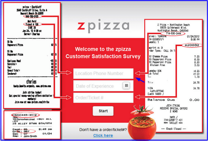 Zpizza Customer Satisfaction Survey form